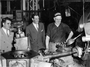 1952: Union members tour Gisholt. Photo courtesy Charlotte (Legrey) Kalish.