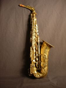 Larry Borenstein's Selmer Balanced Action Alto Saxophone…used by him for over 50 years.