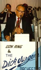 Larry playing his Selmer Balanced Action Alto Sax with the Dick Jurgens Orchestra.