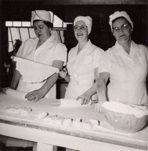 """Lefse Queens"" ca. 1955: Nettie (Slickman) Spevacek, Center."