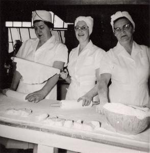 """""""Lefse Queens"""" ca. 1955: Nettie (Slickman) Spevacek, Center."""