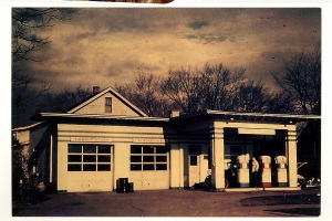 2450 E. Washington, Kelly's Cities Service Station ca. 1946, now Speedy Muffler