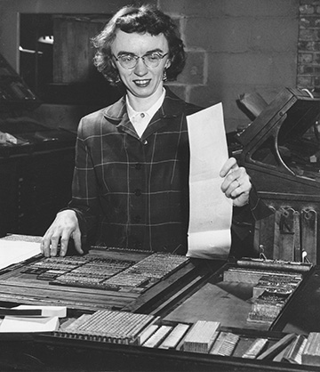 Dorothy Browne Haines when she first joined the firm in 1952.