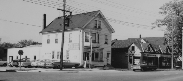 The East Side News and Print Shops stood at the corner of Second Street and Winnebago Street.