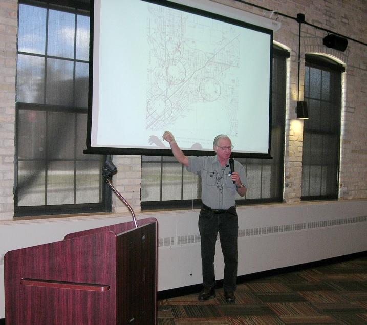 Burr Angle describing industrial development along the East Side rail corridor.
