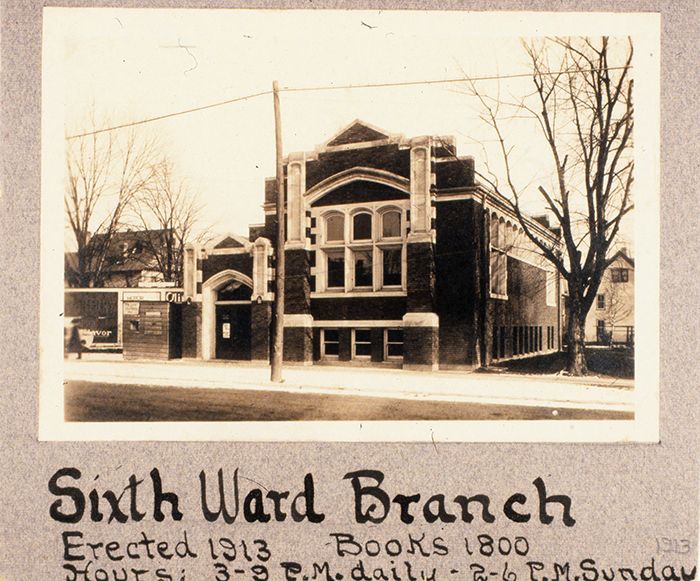 Madison's first library branch, 1249 Williamson Street, 1913