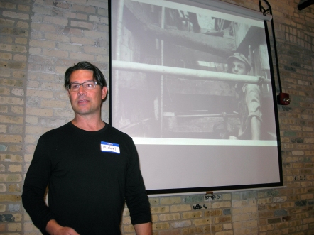 Michael Mucha presenting