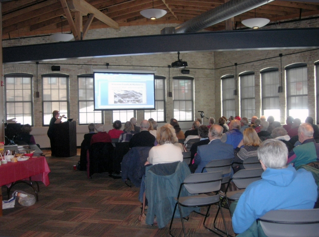 Mary Clark of the Dane County Historical Society presented slides about the foundry's history.