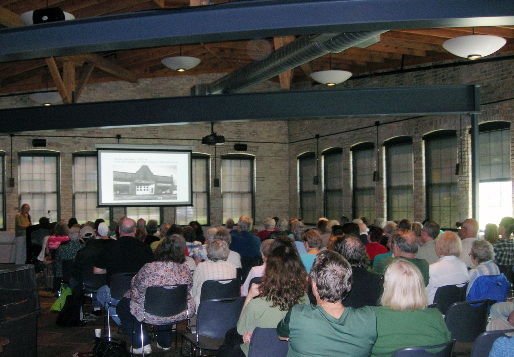"Over 100 people turned out on a beautiful Sunday afternoon for""Picturing the Past"" presented by Ann Waidelich."