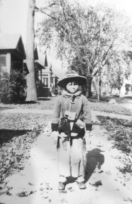 "Neighbor boy ""Perkins,"" 2700 block Center Street circa 1938. Photo courtesy of Patricia Jacobsen."